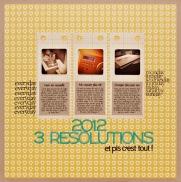 2012 - 3 Résolutions