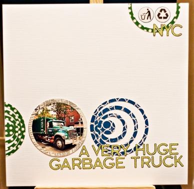 A very huge garbage truck